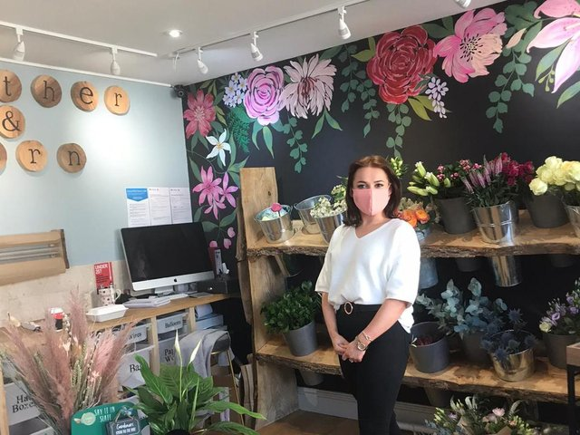 Shannon McIntyre, who has opened Feather and Fern florists this week