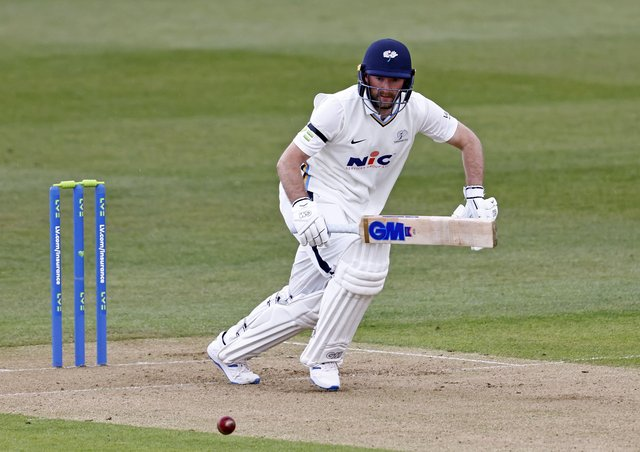 Adam Lyth: The Yorkshire opener top scored with 97 for Yorkshire. Picture: Max Flego
