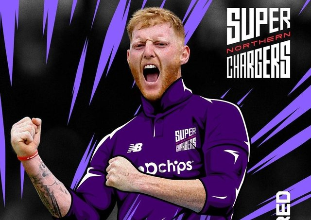 Star man: Ben Stokes, who has been selected to play for Northern Superchargers in The Hundred.