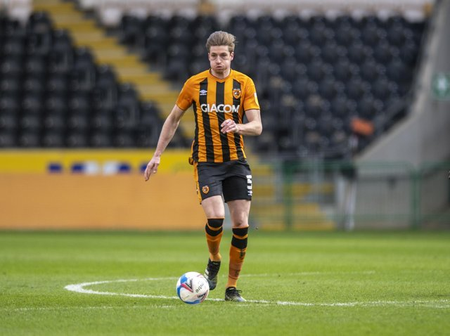 TRAINING: But Reece Burke will not be ready to play for Hull City at home to Fleetwood Town