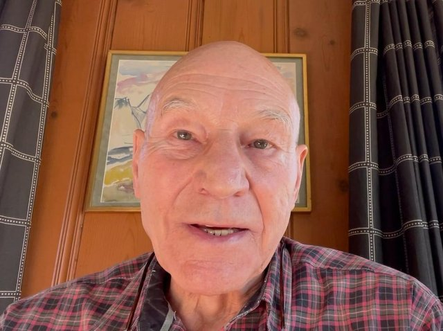 Screengrab from video released by Patrick Stewart backing Tracy Brabin. Photo: Labour Party