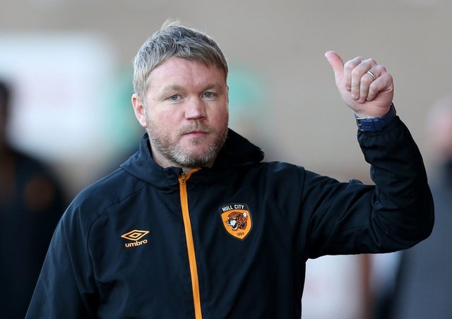 On course: Thumbs up from Hull City manager Grant McCann.