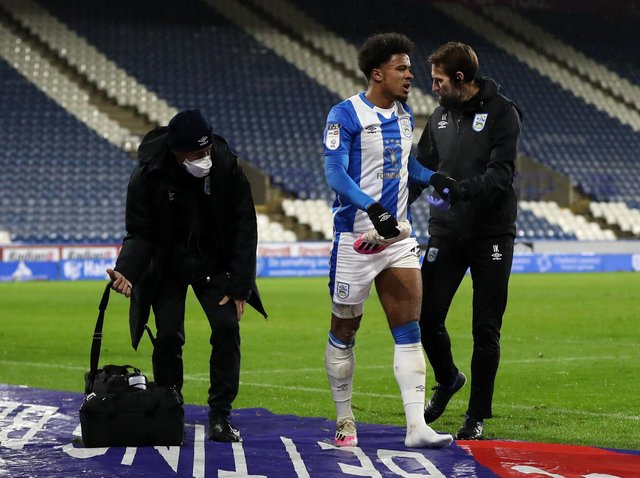 INJURY: Josh Koroma limped off in Huddersfield Town's win over Sheffield Wednesday in December, and has not played since