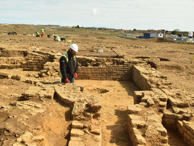 The dig at Eastfield near Scarborough (photo: MAP Archaeology)