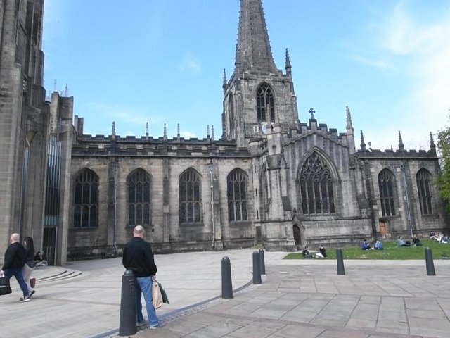 The church bells chimed at 3pm in Sheffield to mark the start of the minute silence, held across the country.