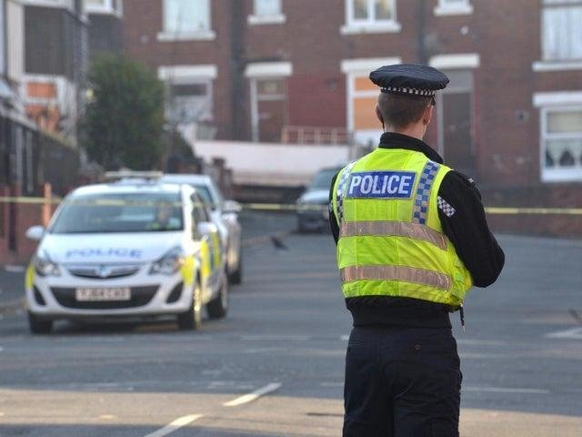 Police have flooded the scene of the incident in Manor (file photo)