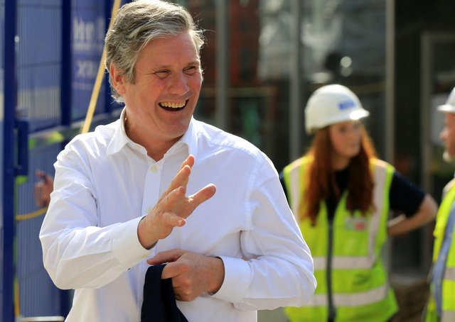 Labour leader Sir Keir Starmer on the local election campaign trail in Sheffield.