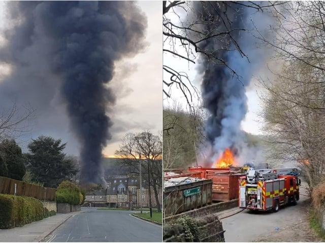 Farrar Mill Lane fire Salterhebble Halifax: These images show the extent of the blaze. Photos: Tim Robinson