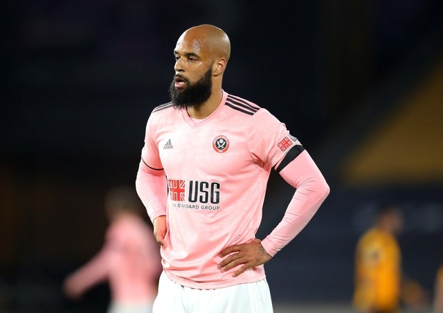 Sheffield United's David McGoldrick looks dejected after the Premier League match at Molineux, Wolverhampton confirmed the Blades' relegation (Picture: PA)
