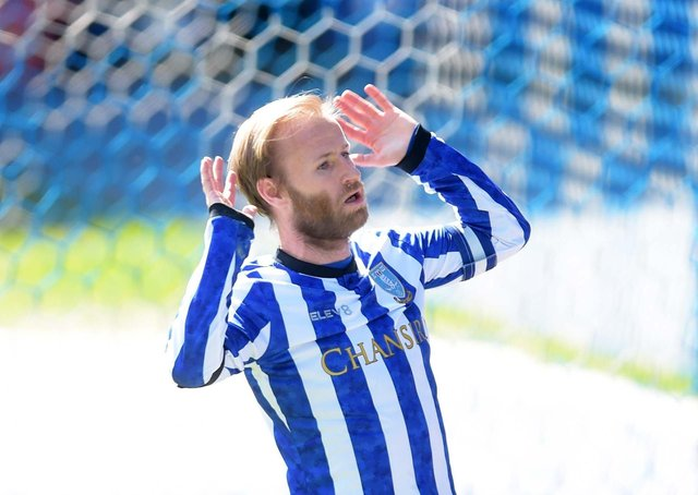 More woe: Barry Bannan can't believe it after his penalty that would have put Sheffield Wednesday 2-0 up, is missed (Picture: Steve Ellis)