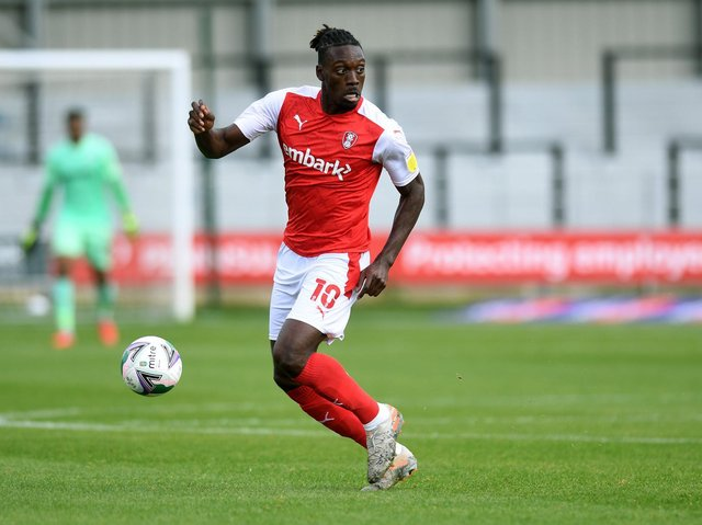 BRIGHT: But Freddie Ladapo was unable to make Rotherham United's football count