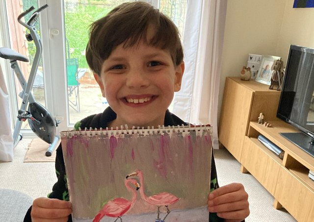 James Tortice has ADHD and autism and is selling his painting to help pay for his friend's cancer treatment