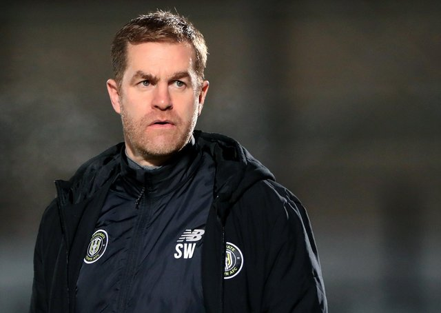 Relieved: Harrogate Town manager Simon Weaver.