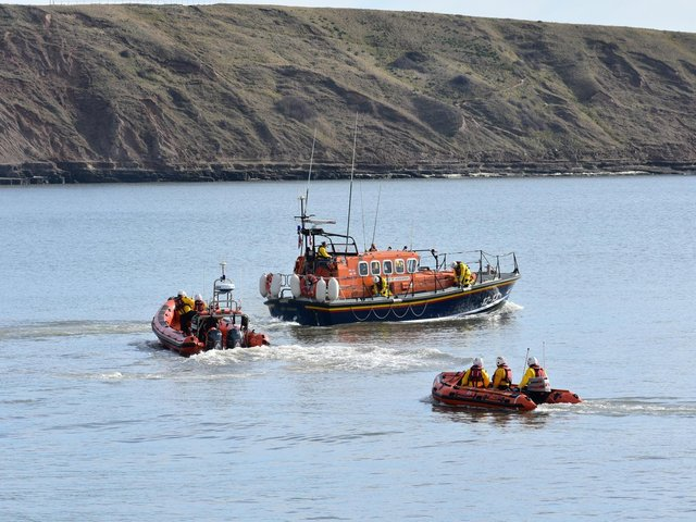 The all-weather lifeboat out on its final exercise. Picture: RNLI/Phill Andrews