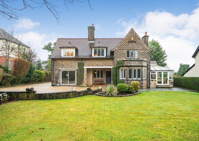 Occupation Road: A stone built, detached, 1920s four-bedroom home in Lindley. It has a characterful interior, including an oak panelled reception hall, £675,000. Contact: simonblyth.co.uk
