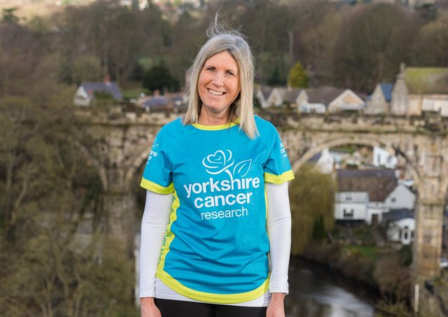 Mandy Moody Yorkshire Cancer Research's Walkshire with Welcome to Yorkshire  Picture: Jonathan Pow/jp@jonathanpow.com