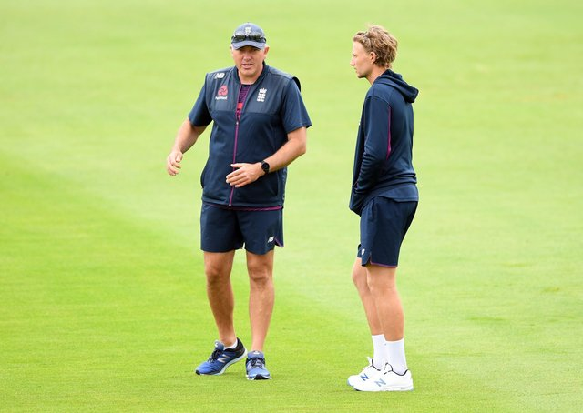 Expanded role: England head coach Chris Silverwood, left, the former Yorkshire bowler and Test captain Joe Root. Picture: Mike Hewitt/NMC Pool/PA Wire.
