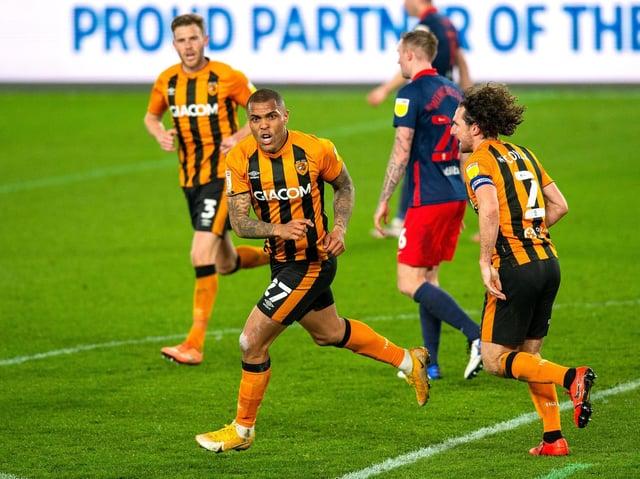 TWO GOALS: Hull City striker and cheerleader Josh Magennis