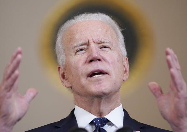 President Joe Biden speaks at the White House (AP Photo/Evan Vucci)