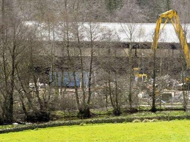 Work taking place in December 2019 to clear the former Hepworth site, where the new housing development was intended to be located. Picture: Steve Ellis