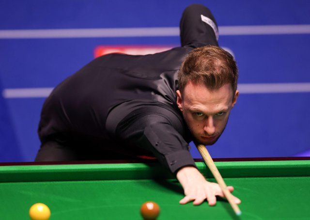 Judd Trump in action at the Crucible. Picture: PA.