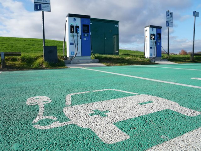 Stock photo of an EV charging point. Photo: PA