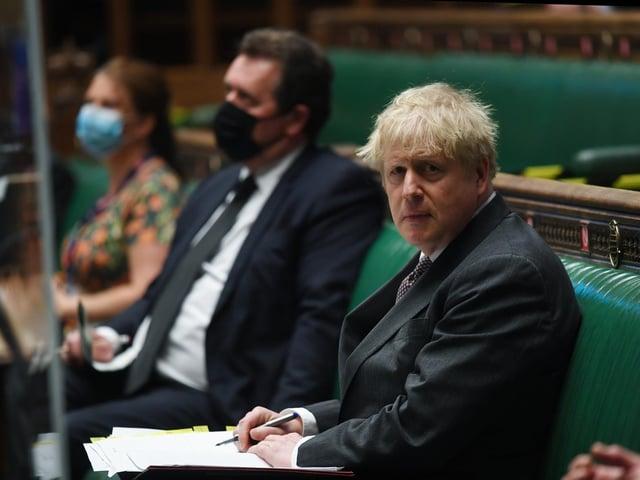 Prime Minister Boris Johnson during PMQs. Photo: Jessica Taylor/UK Parliament