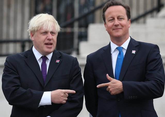 There have been recent controversies involving both Boris Johnson and David Cameron, pictured together here in 2012.  (Photo by Peter Macdiarmid/Getty Images)