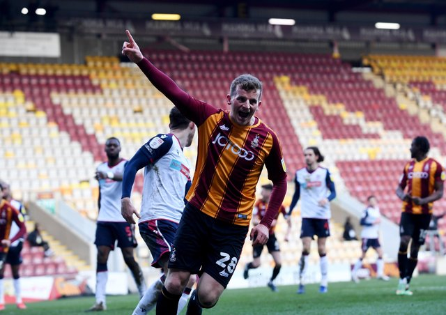 Exit: Striker Danny Rowe has left Bradford City for National League side Chesterfield. Picture by Simon Hulme