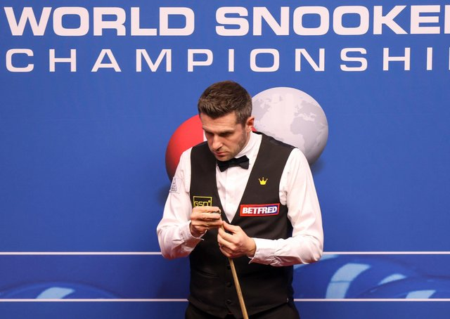 Mark Selby at the Betfred World Championship in Sheffield. Picture: PA