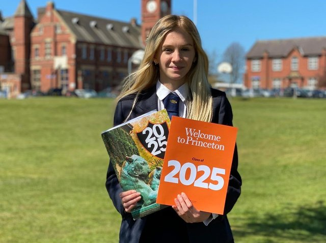 Pictured, Mena Scatchard, 18, one of the fastest young middle-distance runners in the UK, will be leaving her small North Yorkshire village for the hallowed halls of Princeton University in New Jersey. Photo credit: Submitted picture