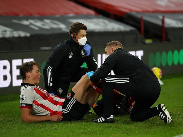 INJURED: Sander Berge has not been seen in Sheffield United colours since December