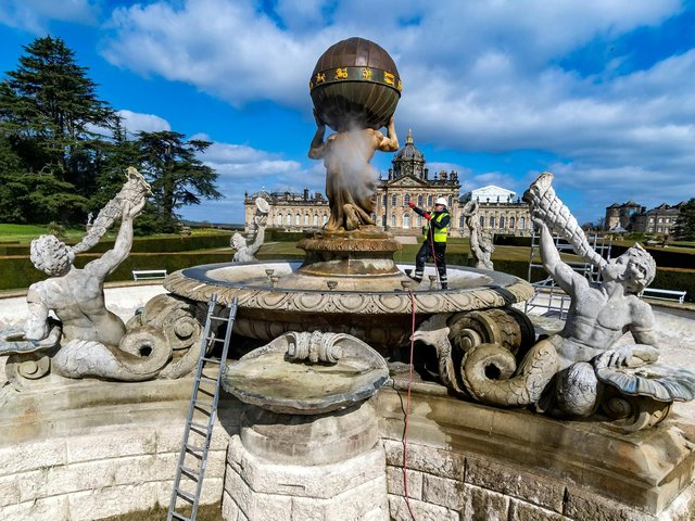 The Atlas fountain is 168 years old.