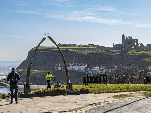 Whitby in the fine weather this week.