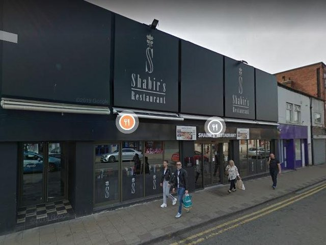 Shabir's Restaurant on East Laith Gate in Doncaster town centre