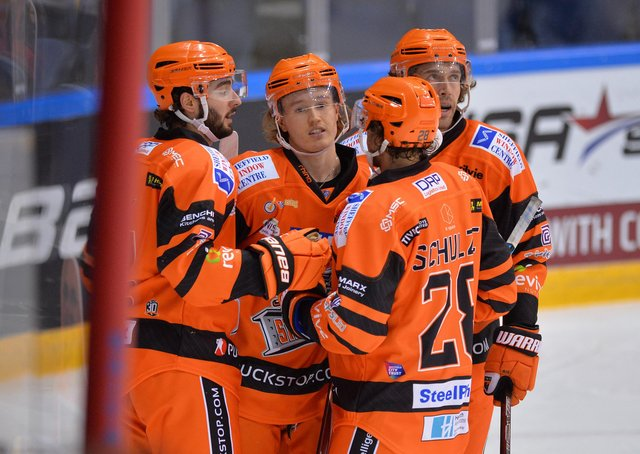 STAND OUT: Josh Waller has earned many admirers during his stint in the Elite Series with Sheffield Steelers. Picture: Dean Woolley.