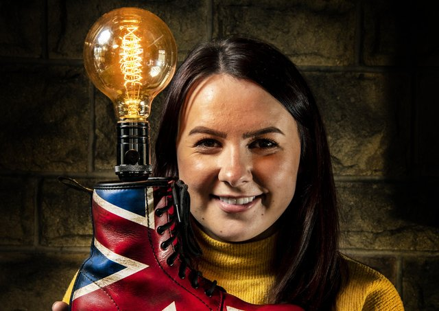 Entrepreneur Frankie Farrar who upcycles hallmarked silver spoons into rings,  and antiques into ornimental lamps from her workshop in Langsett near Sheffield.  Picture Tony Johnson