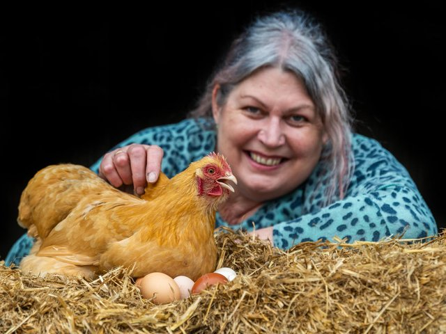 Former hotel chef Sarah is famous for the quality of her farmyard breakfasts