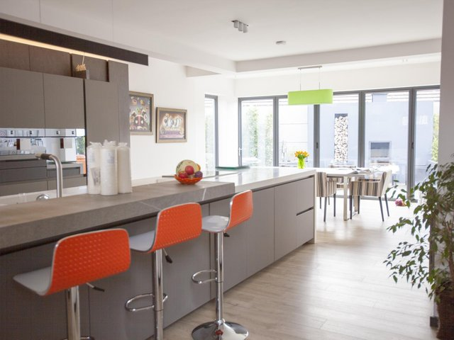 The spacious, light-filled kitchen was a major expense but Erica wanted it to be just right, with attention to detail being paramount.