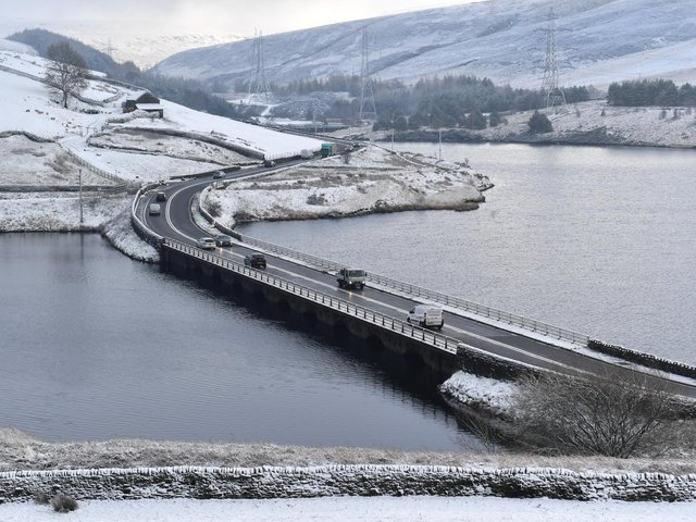 The Woodhead Pass between Sheffield and Manchester.
