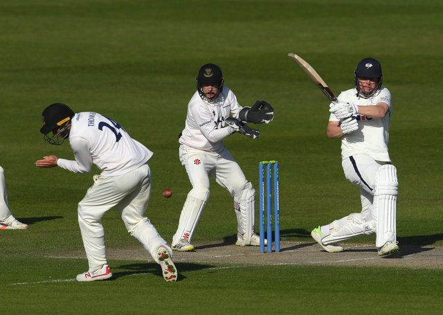 Yorkshire's Gary Ballance in action at Hove.  (Photo by Mike Hewitt/Getty Images)