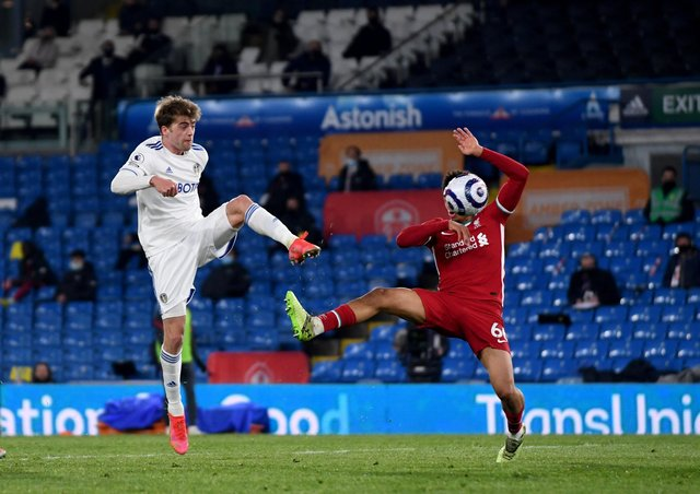 DIFFERENT LEVEL: Leeds United and Liverpool clashed at Elland Road on Monday night in the Premier League, while fans came together outside the stadium to protest at the proposed European Super League, a scheme which has since collapsed. Picture: Simon Hulme