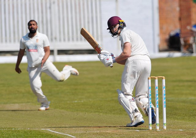 Century-maker: Methley's teenage opener Alex Cree  scored his maiden Bradford Premier League century which helped his side to a  249-run win over Wrenthorpe.Cree made 128, an innings laced with five sixes and 16 fours. Pictures: Steve Riding.