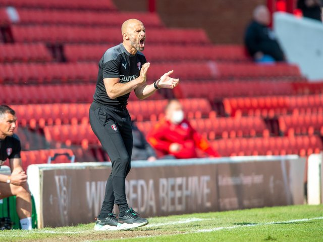 Rotherham United manager Paul Warne pictured on the touchline at Barnsley. PICTURE: BRUCE ROLLINSON.