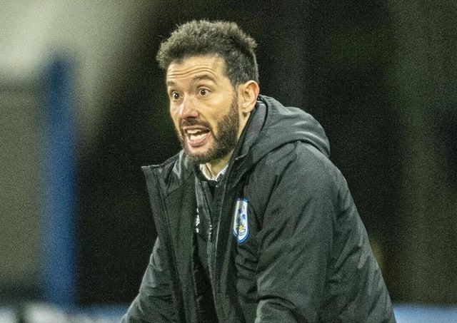 Exasperated: Huddersfield head coach Carlos Corberan.  Picture: Tony Johnson