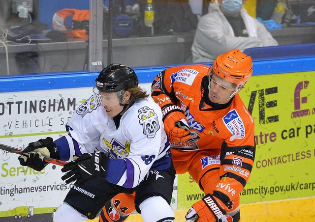 Steelers' Sam Jones, right. Picture courtesy of Dean Woolley.