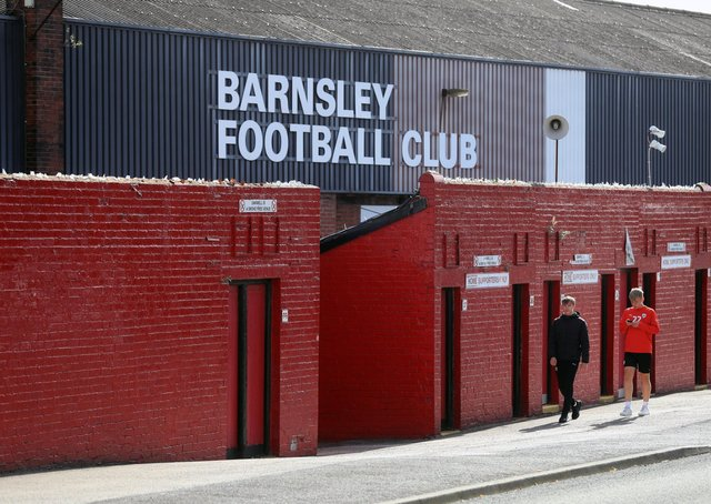 Oakwell: A general view outside the ground. Picture: PA
