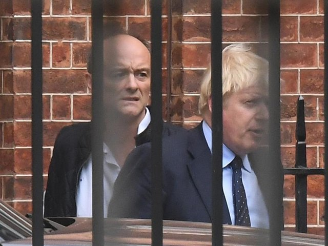 File photo dated 03/09/19 of Prime Minister Boris Johnson with his then senior aide Dominic Cummings, Photo: PA