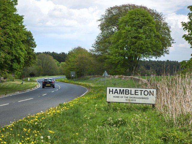 Hambleton at the top of Sutton Bank near Thirsk in North Yorkshire