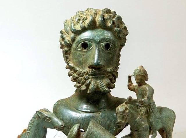 The bust of Emperor Marcus Aurelius